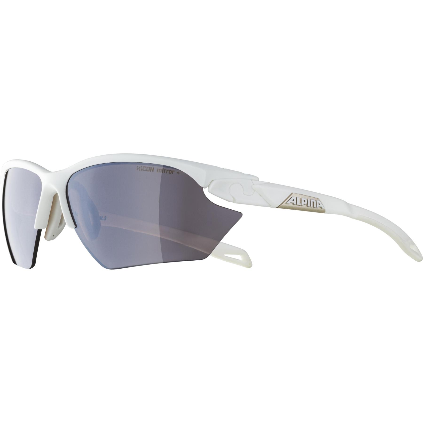 Image of Alpina Twist five HR S HM+ Glasses - white matt / Hicon black mirror