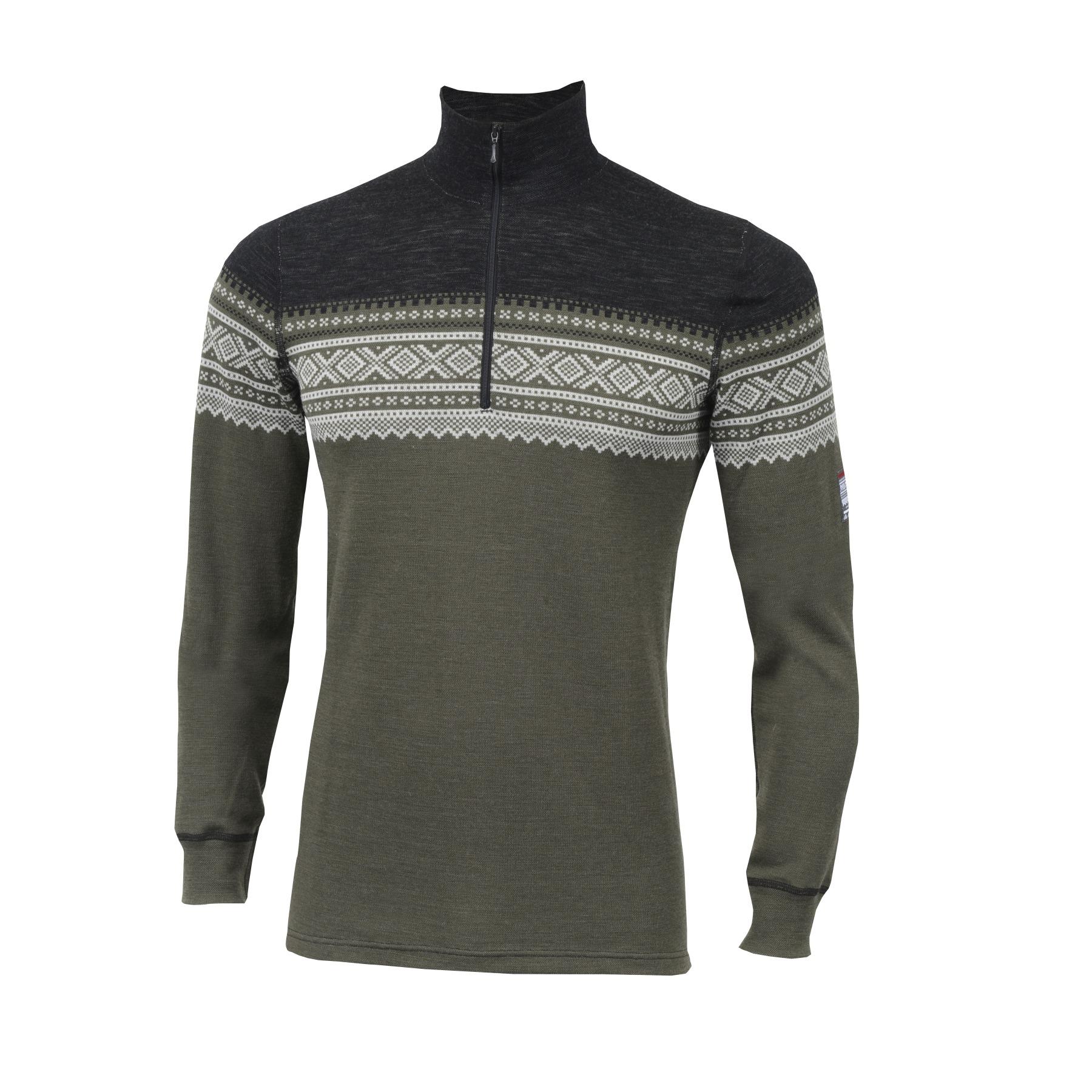 Image of Aclima Designwool Marius Mock Neck Longsleeve Shirt with Zip - nordmarka