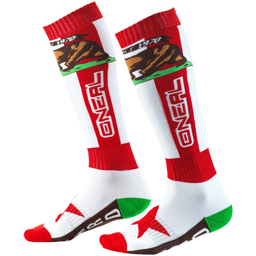 O'Neal Pro MX Sock - CALIFORNIA red/white/brown