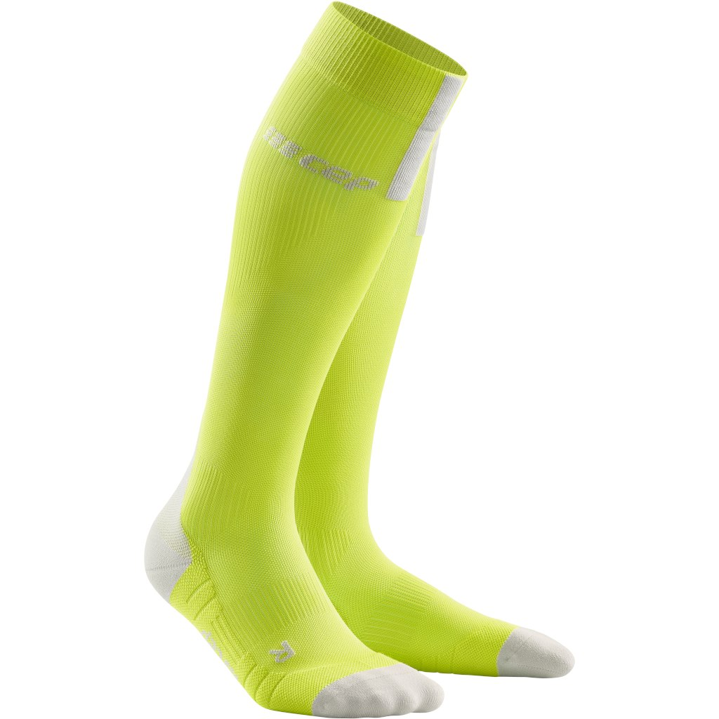 CEP Run Compression Socks 3.0 - lime/light grey