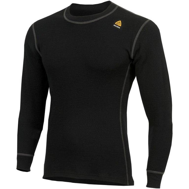 Aclima WarmWool Crew Neck Undershirt - jet black