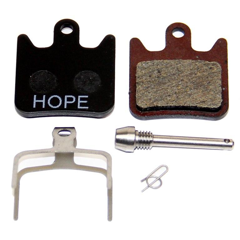Hope Disc Brake Pads Race X2 organic standard with Aluminium Back Plate - HBSP267