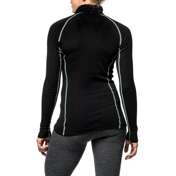 Image of Woolpower Zip Turtleneck LITE Unisex Undershirt - black