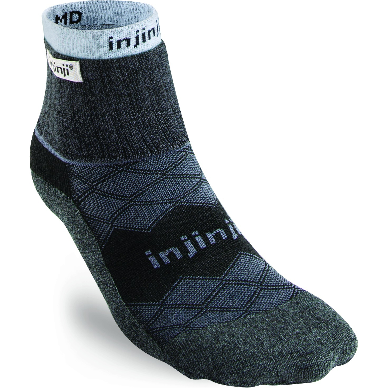 Injinji Men's Liner + Runner Mini-Crew Socken - schwarz