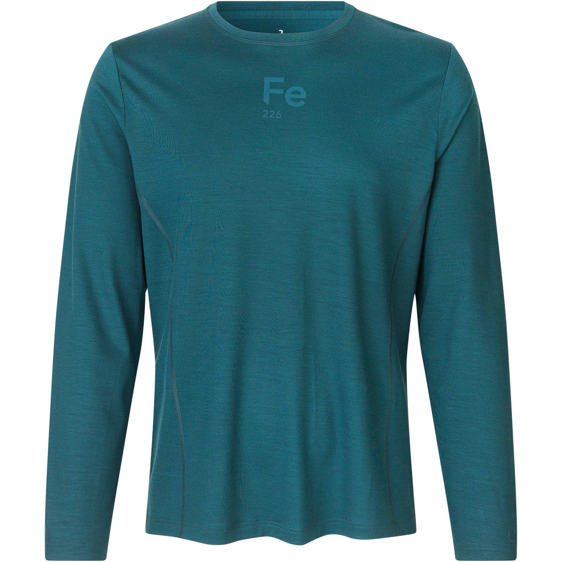 Produktbild von Fe226 Virgin Merino Wool T-Shirt Langarm - darkest green
