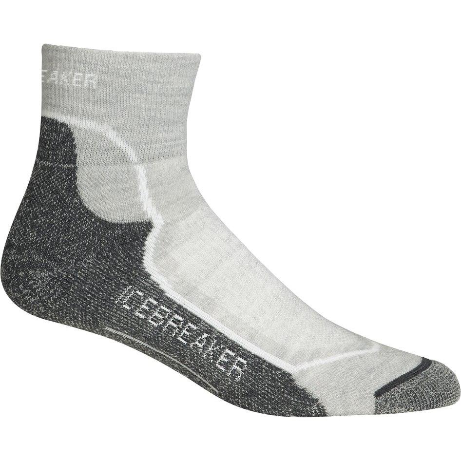 Icebreaker Hike+ Light Mini Damen Socken 100326 - Blizzard Heather/White/Oil
