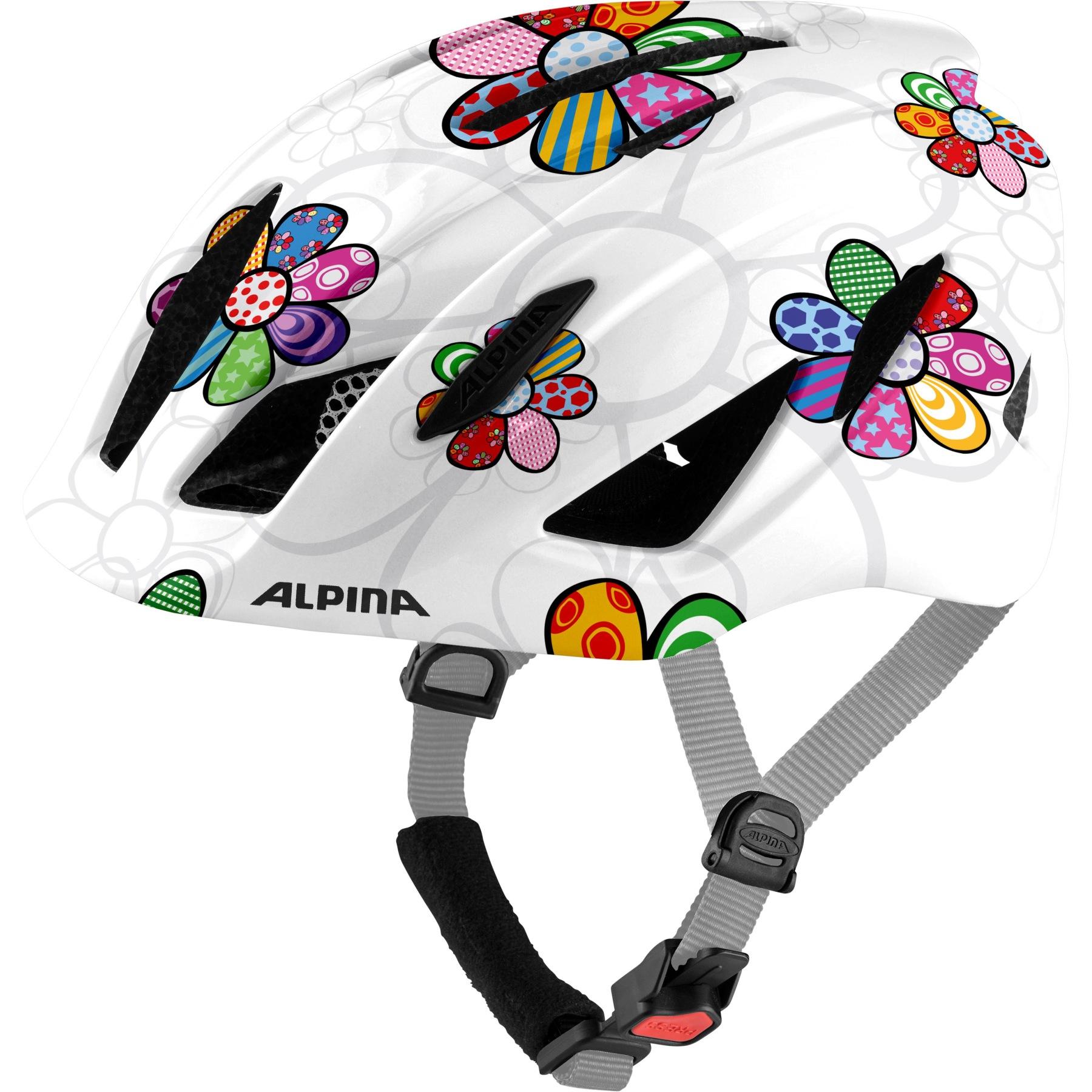 Alpina Pico Kids Helmet - pearlwhite-flower gloss