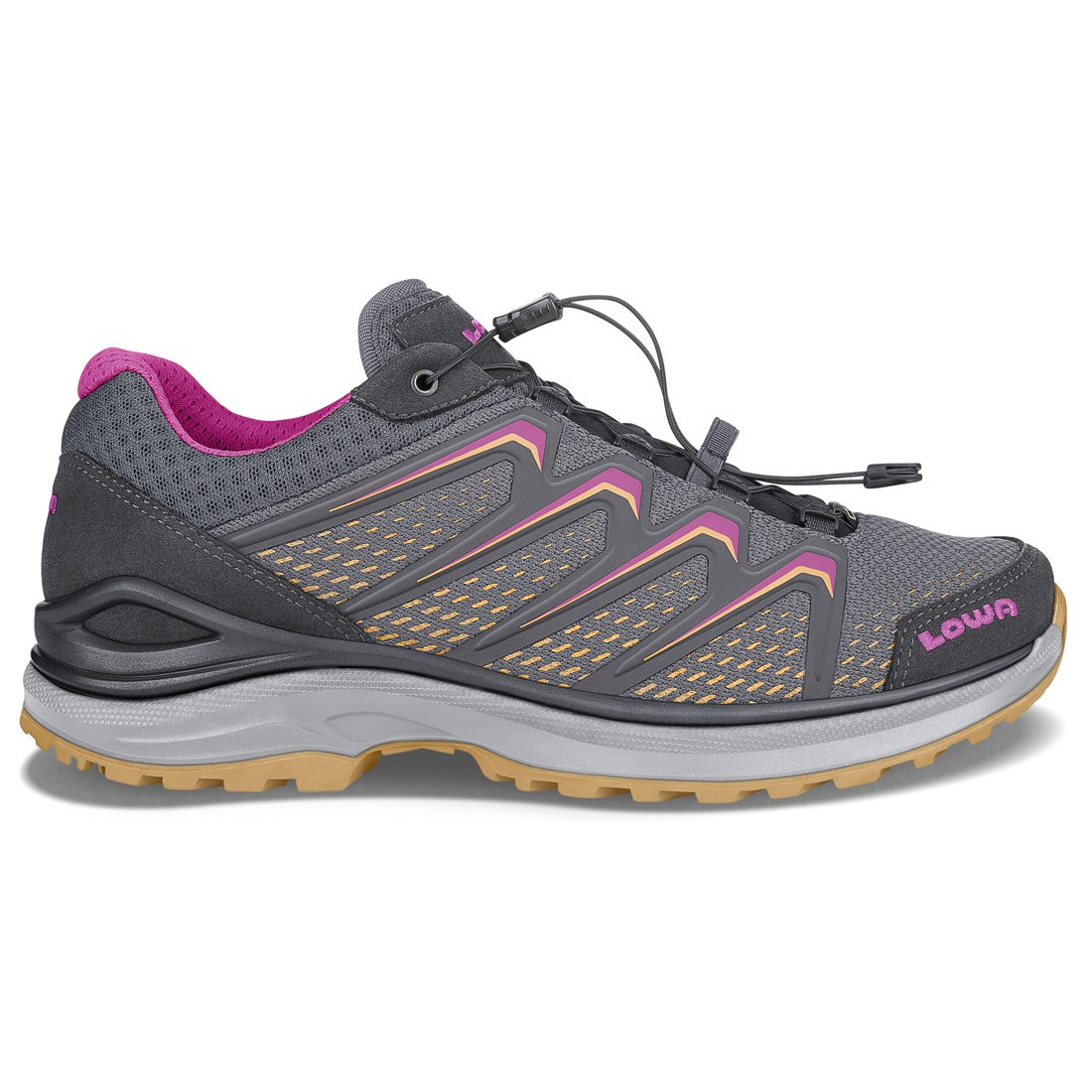 LOWA Maddox GTX LO Ws Women's Shoe - grey/mandarin