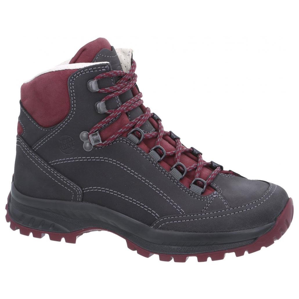 Hanwag Canyon Lady Shoes - Asphalt/Dark Garnet