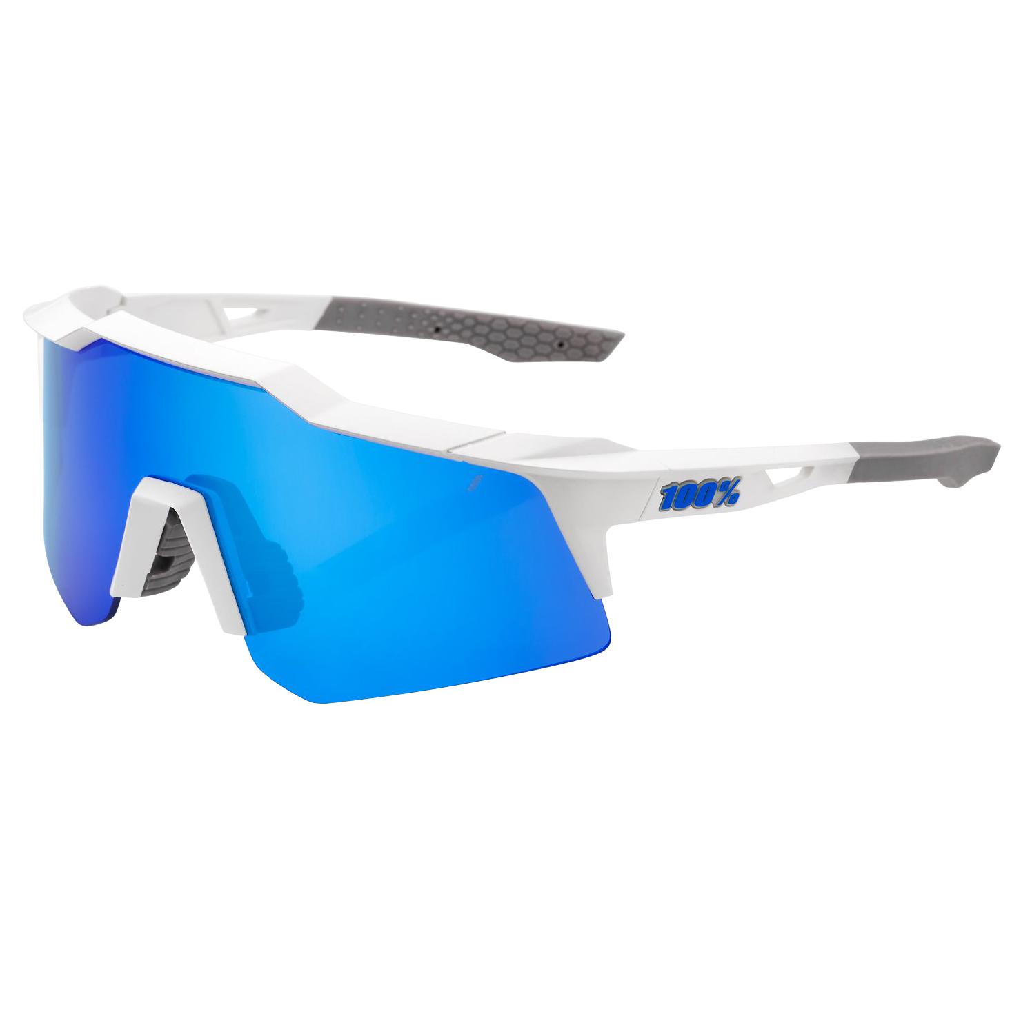 100% Speedcraft - XS - Multilayer Mirror Gafas - Matte White/Blue + Clear