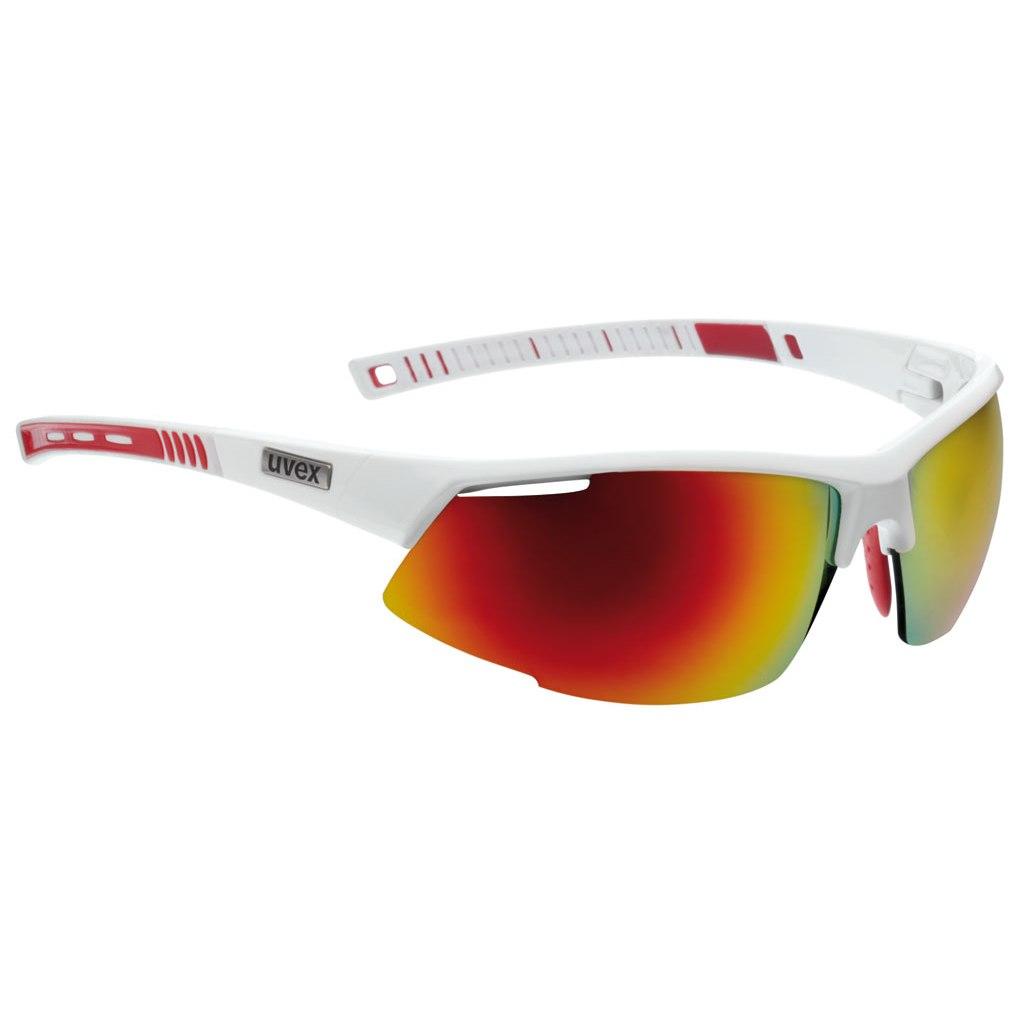Foto de Uvex radical pro - white / mirror red + litemirror orange + clear - Glasses