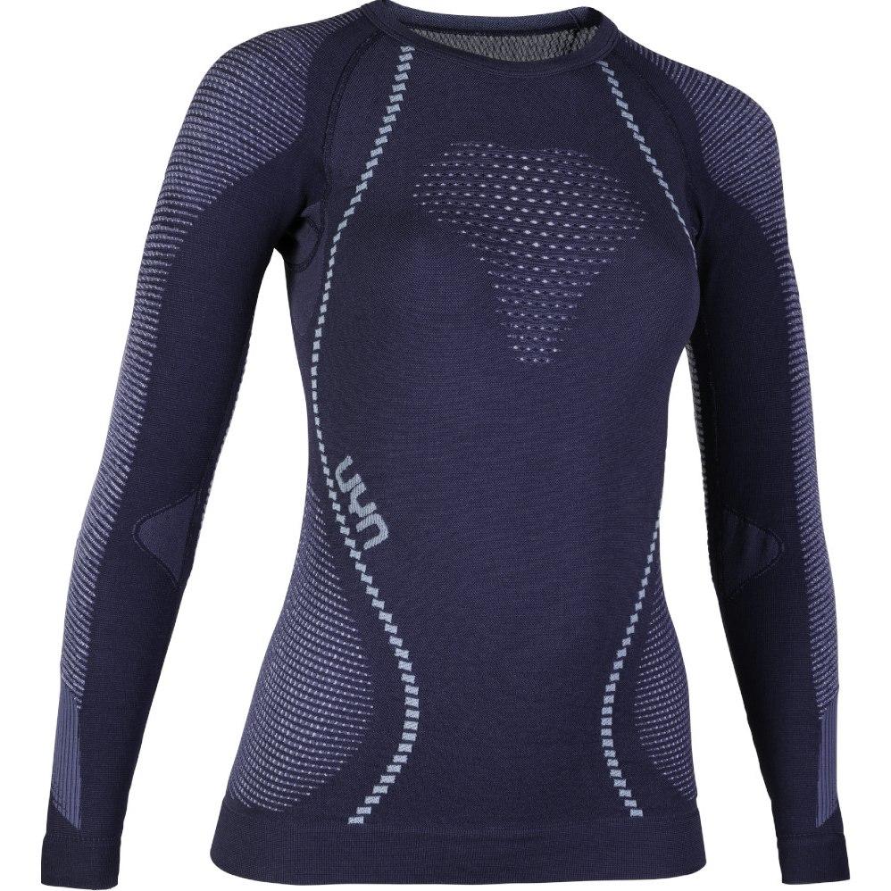 Bild von UYN Ambityon Underwear Langarmshirt Damen - Deep Blue/White/Light Blue