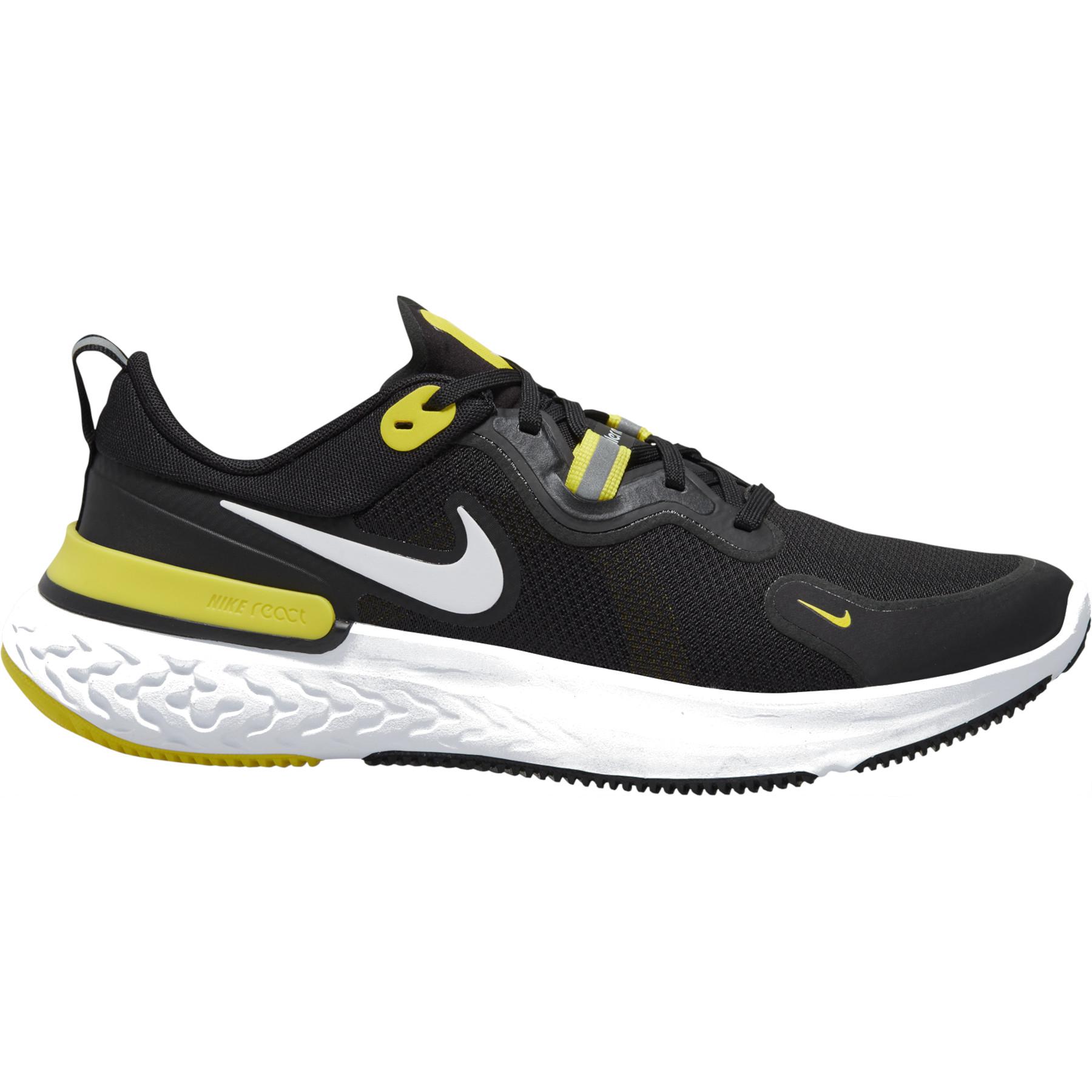Nike React Miler Herren-Laufschuh - black/white-opti yellow-dark grey grey CW1777-009
