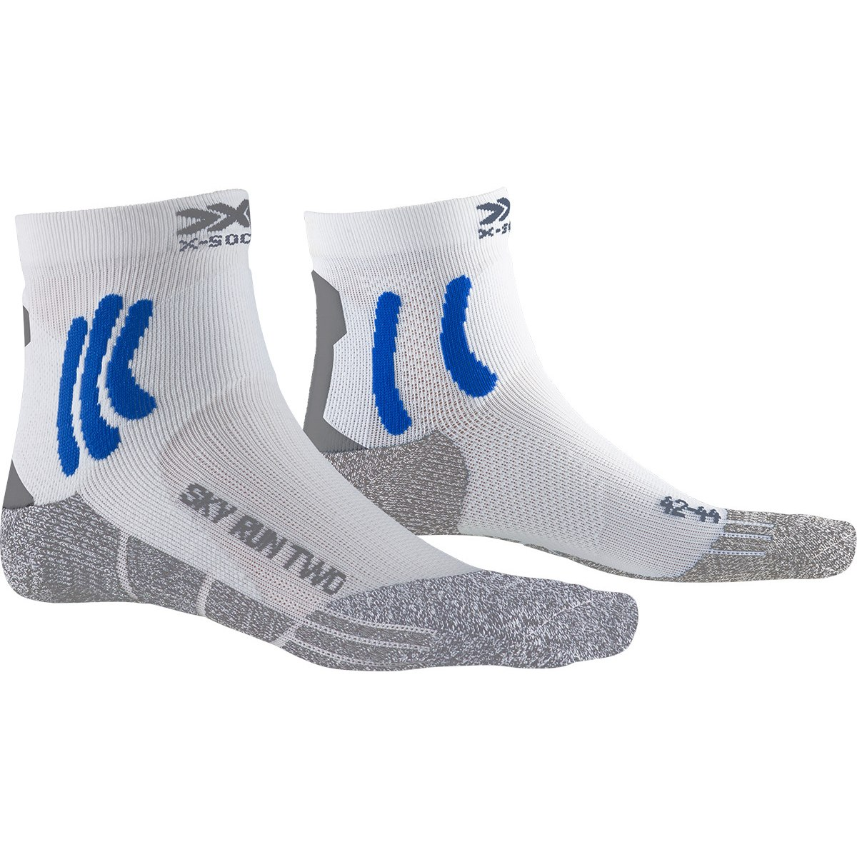 Bild von X-Socks Sky Run Two Laufsocken - white/twyce blue/grey melange
