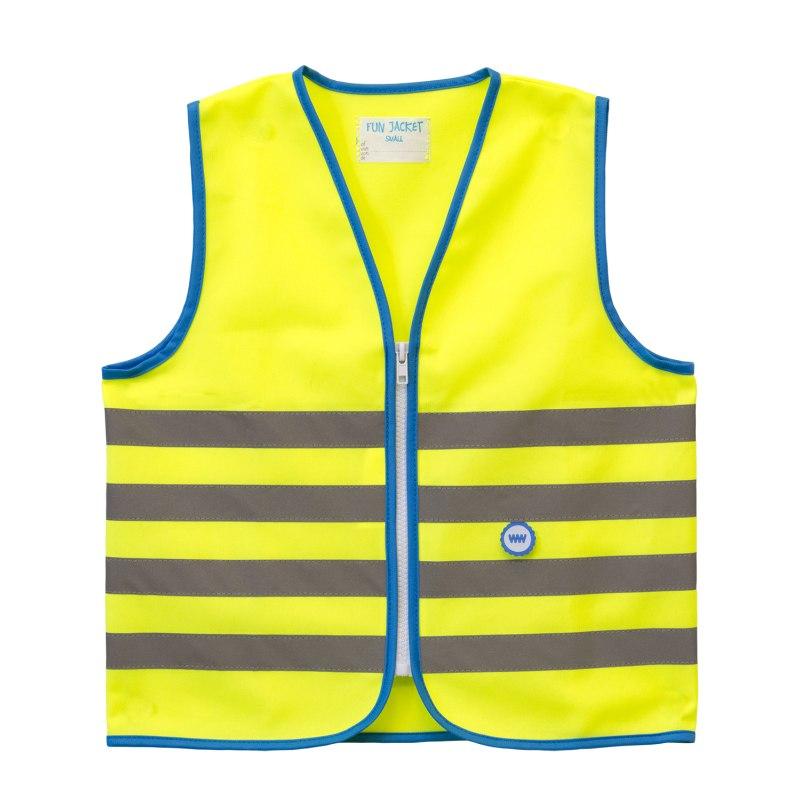 WOWOW Fun Jacket Kinder Sicherheitsweste - gelb