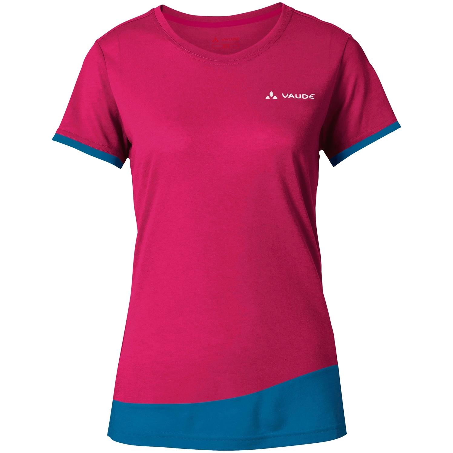 Vaude Sveit Damen Shirt - kingfisher/pink