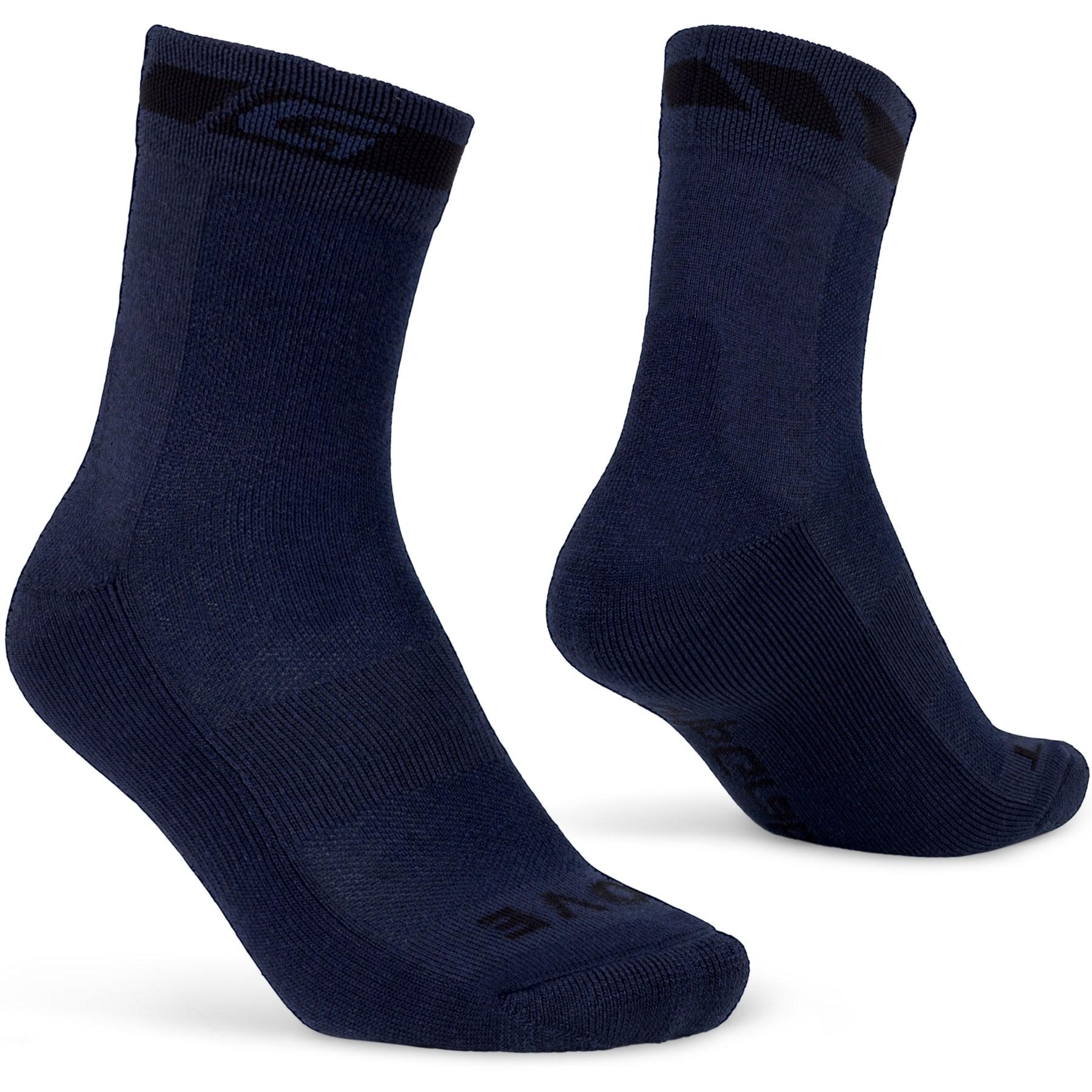 GripGrab Merino Winter Sock - Navy Blue