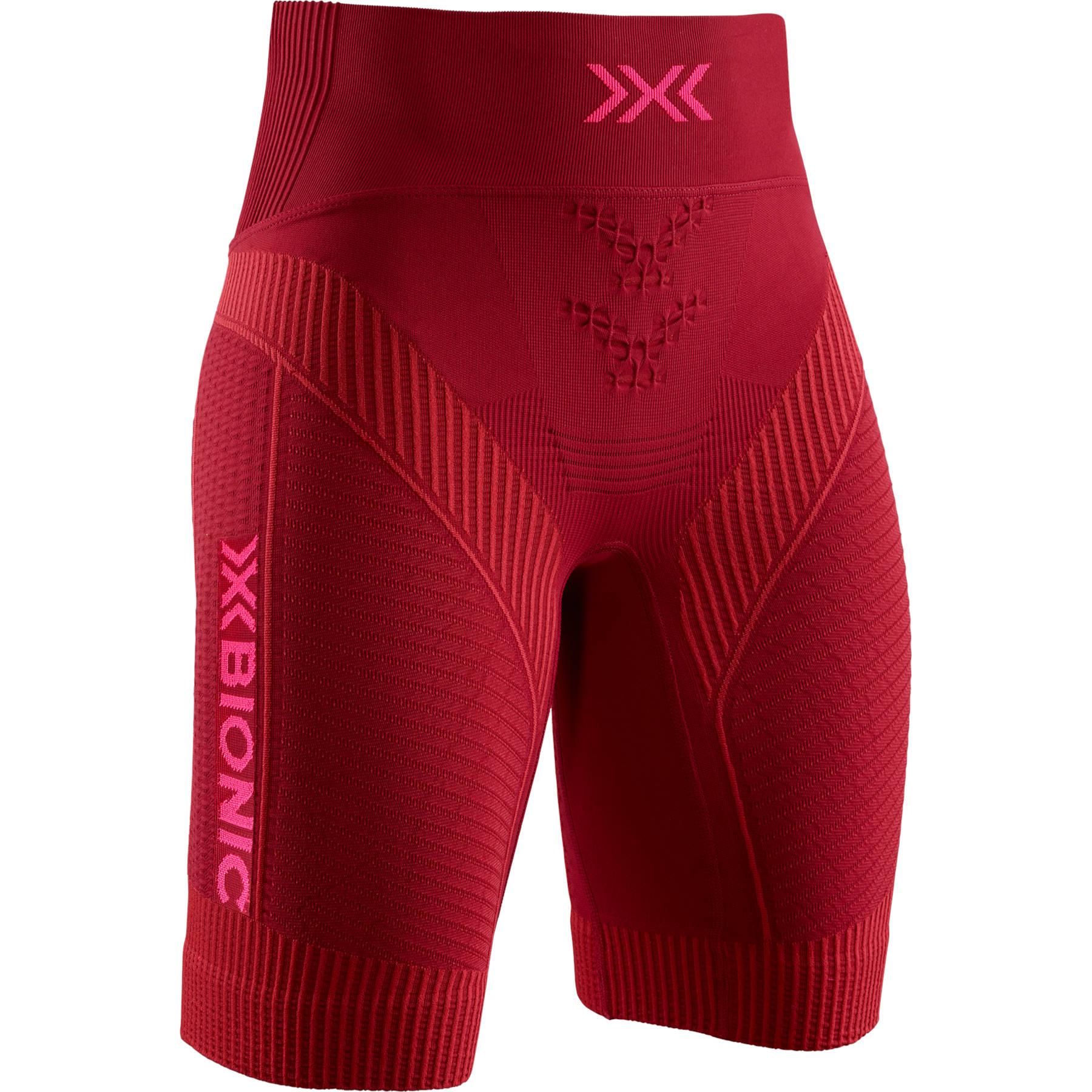 X-Bionic Effektor 4.0 Run Laufshorts für Damen - namib red/neon flamingo