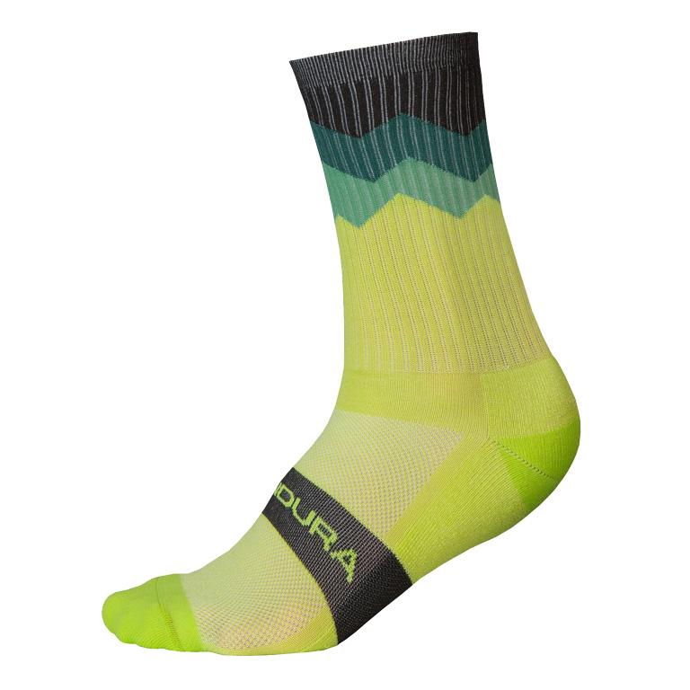 Endura Jagged Sock - lime green