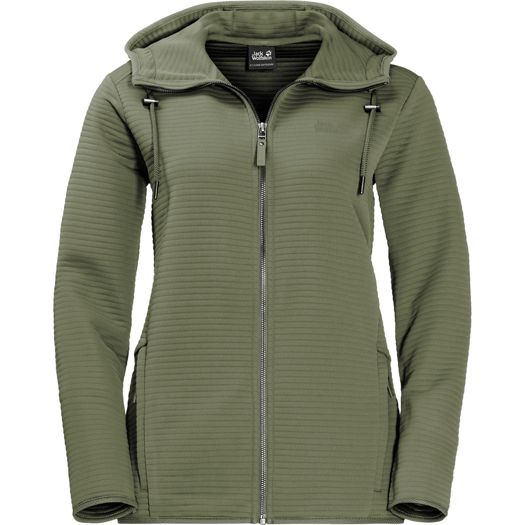 Jack Wolfskin Modesto Hooded Jacket Women Damenjacke - light moss