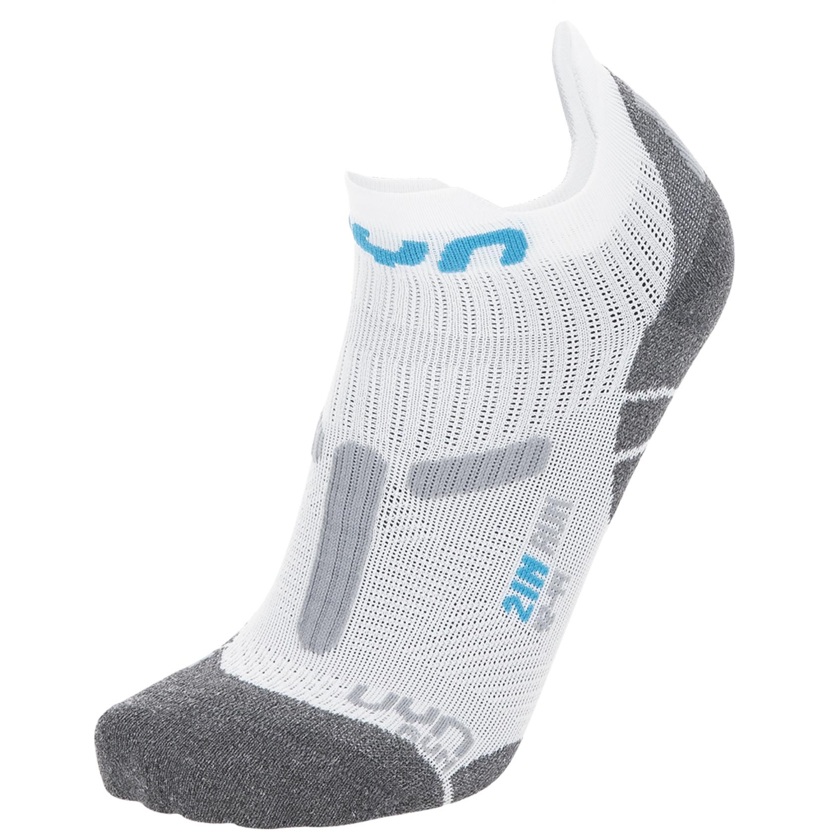 UYN Run 2In Socken - Weiß/Grau