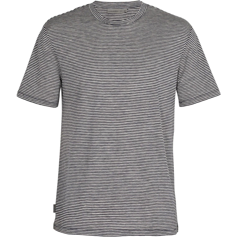 Bild von Icebreaker Dowlas Crewe Stripe Herren T-Shirt - Midnight Navy