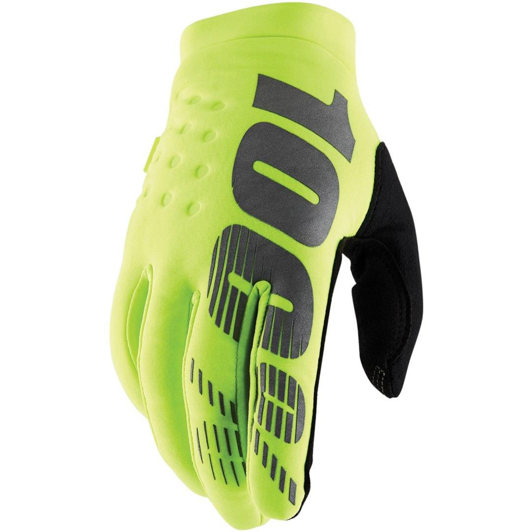 100% Brisker Cold Weather Glove - Fluo Yellow/Black