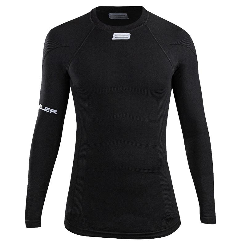 Biehler Seamless Pro Long Sleeved Baselayer Undershirt - black