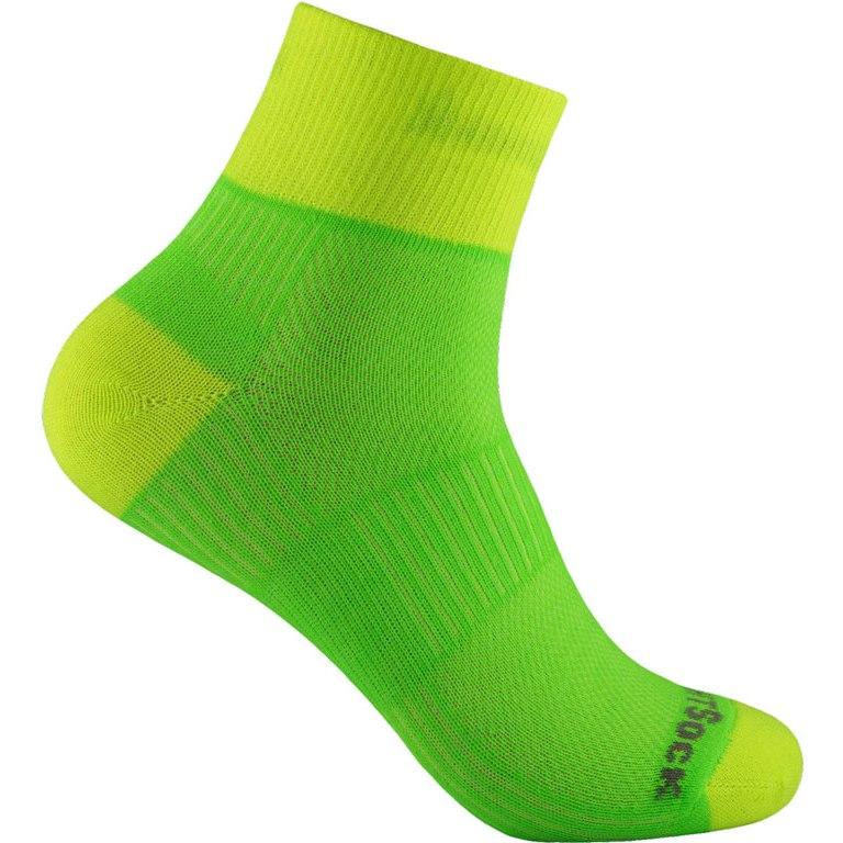 WRIGHTSOCK Coolmesh II Quarter Doppellagige Socken - lemon-lime - 805-65