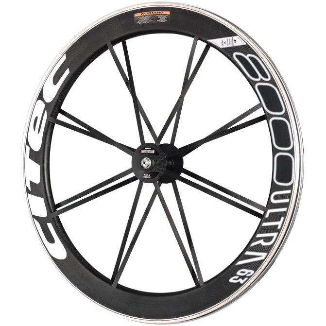 Image of CITEC 8000 SL / 63 Ultra 28 Inch Wheelset - Clincher - 9x100mm QR - white/black