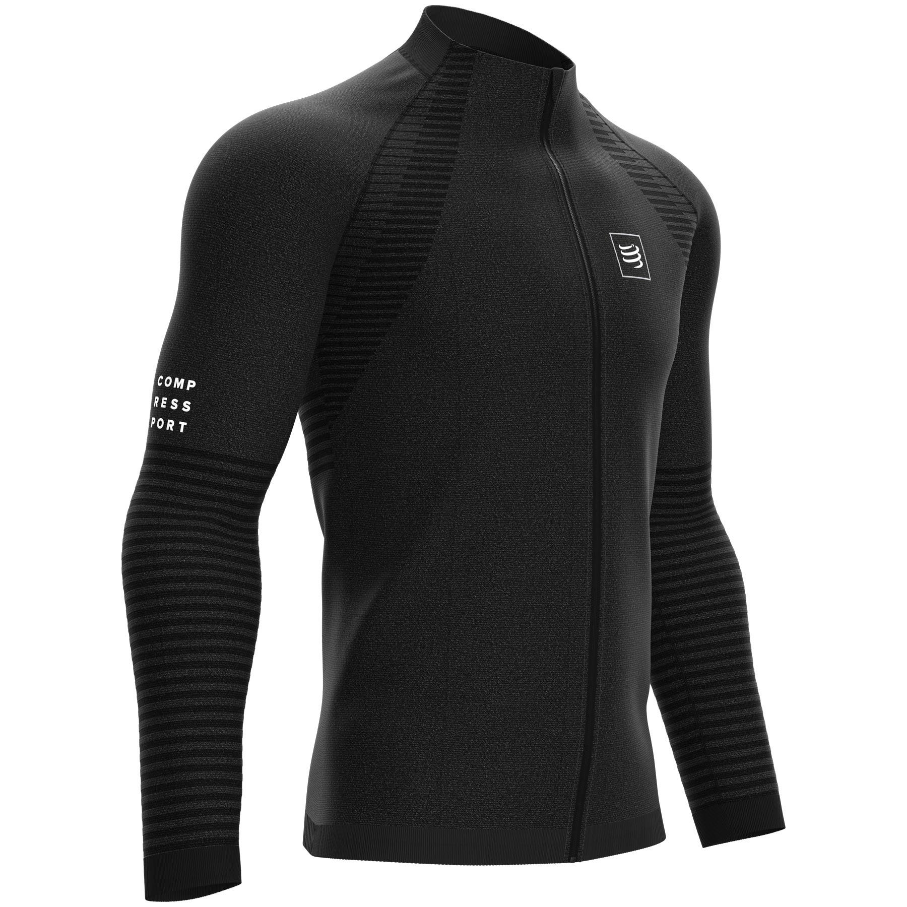 Produktbild von Compressport Nahtloses Sweatshirt mit Reißverschluss Unisex - black