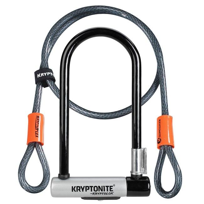 Kryptonite New-U Kryptolok Standard U-Lock + Kryptoflex Loop Cable 120cm