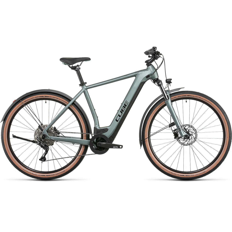 CUBE NURIDE HYBRID PRO 625 Allroad - Bicicleta Eléctrica - 2022 - silvergreen/black A00