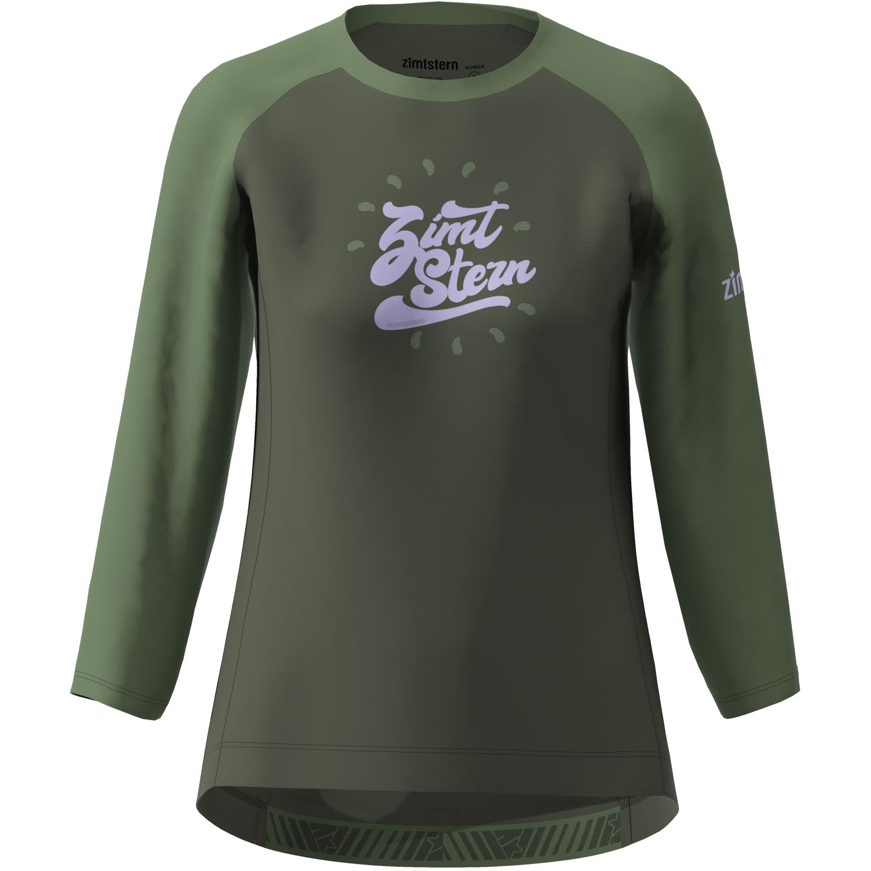 Zimtstern PureFlowz 3/4 Shirt Damen - forest night/bronze green