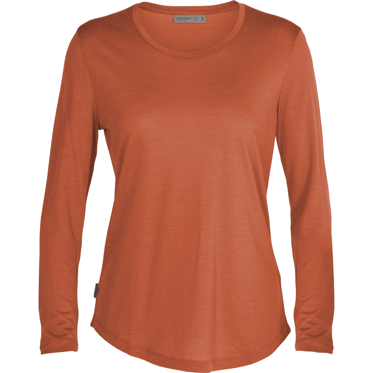 Produktbild von Icebreaker Sphere Low Crewe Damen Langarmshirt - Clay