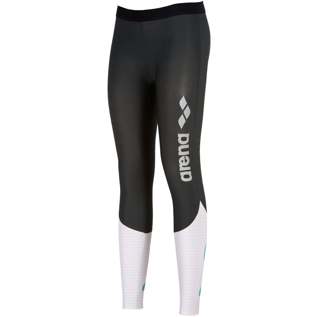 Image of arena Caron Compression Long Women's Tight - deep grey/white