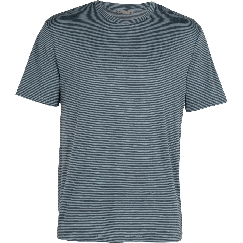 Produktbild von Icebreaker Dowlas Crewe Stripe Herren T-Shirt - Gravel