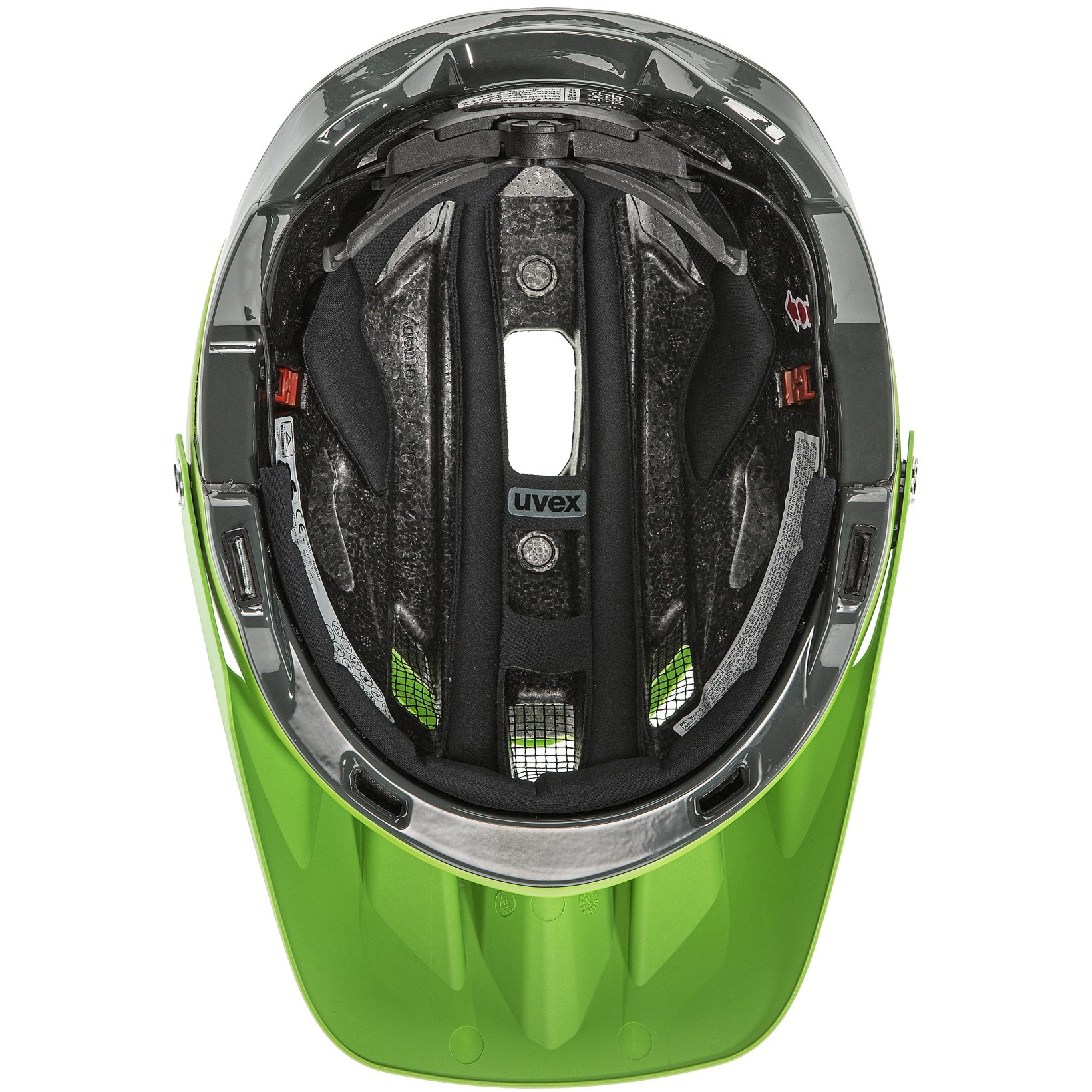 Image of Uvex quatro integrale Helmet - lime anthracite mat