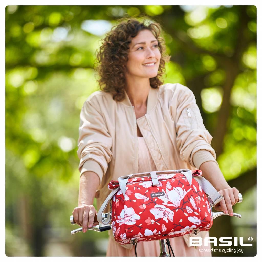 Image of Basil Magnolia City Bag - Handlebar Bag - poppy red