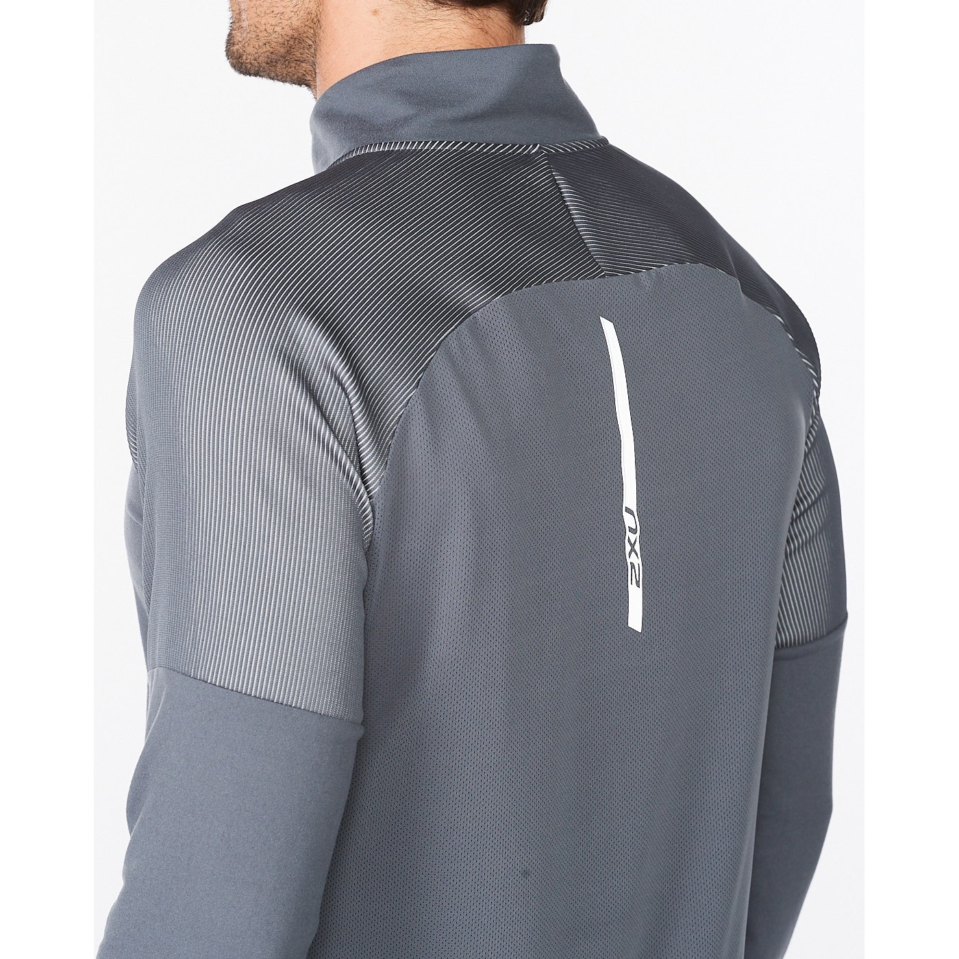 Imagen de 2XU Light Speed 1/2 Zip Camiseta de manga larga - turbulence/silver reflective