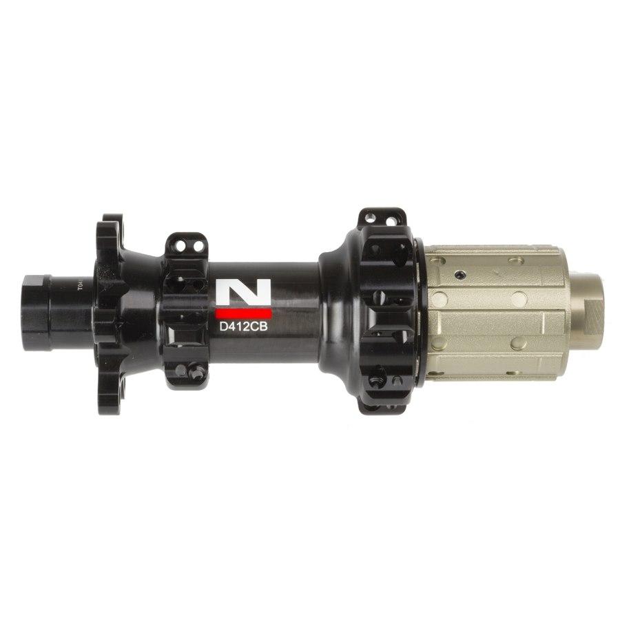 Novatec D412CB Ultralight 3 in 1 Carbon - Straight Pull Hinterradnabe - 6-Loch - 12x142mm - schwarz