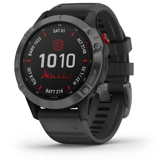 Garmin fenix 6 Pro Solar GPS Reloj inteligente - negro/plata negro