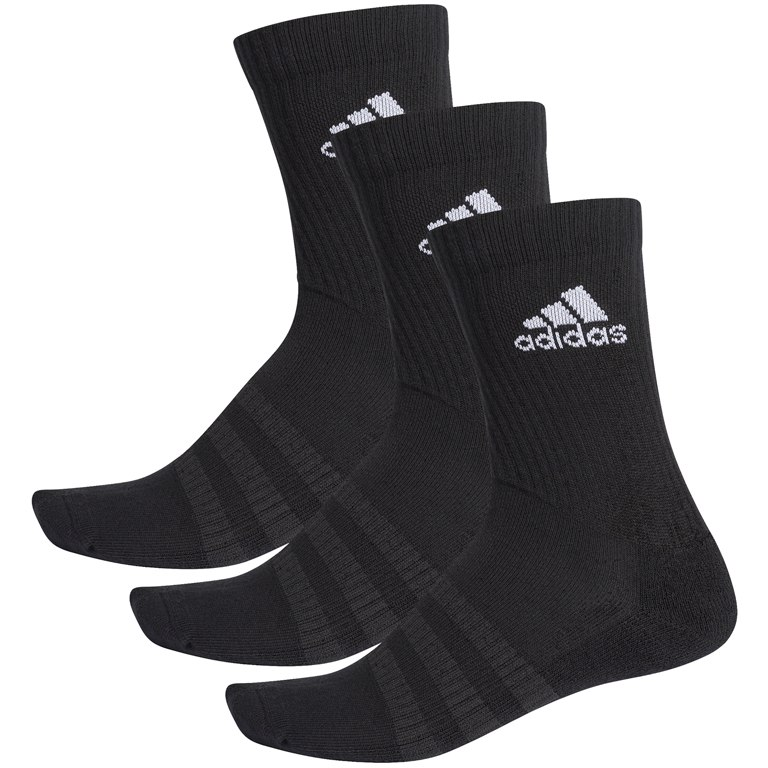Foto de adidas Cushioned Crew Socks 3 Pairs - black/black/white DZ9357