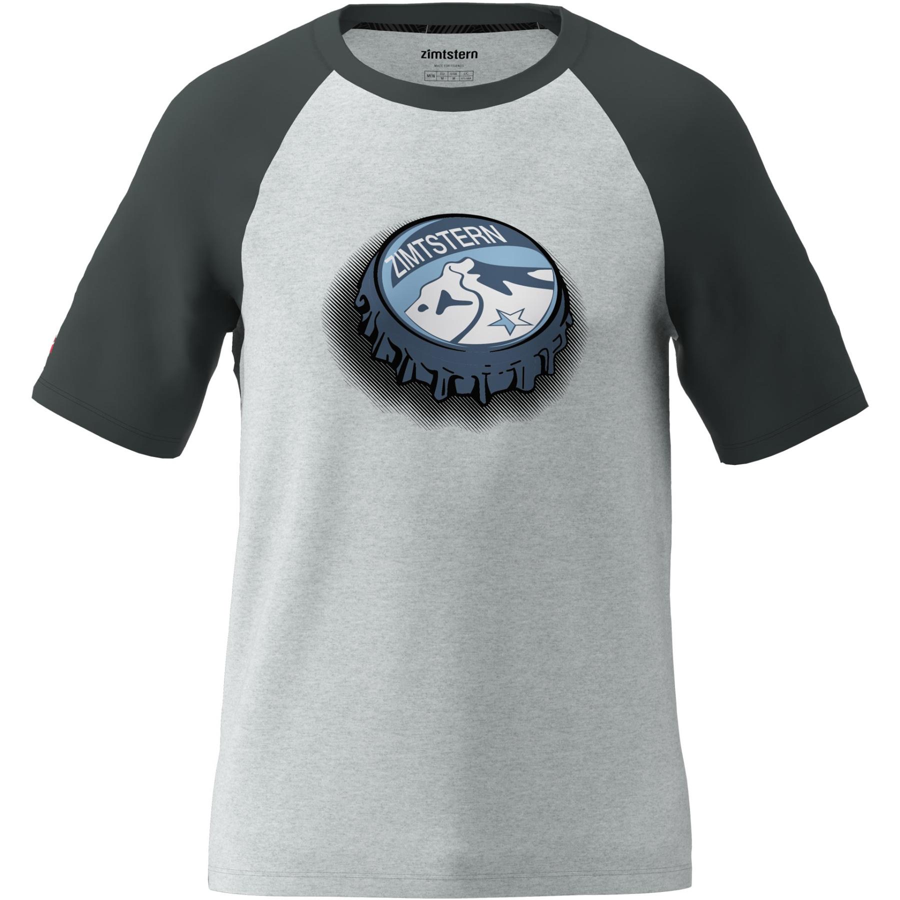 Zimtstern Cupz T-Shirt - glacier grey melange/pirate black