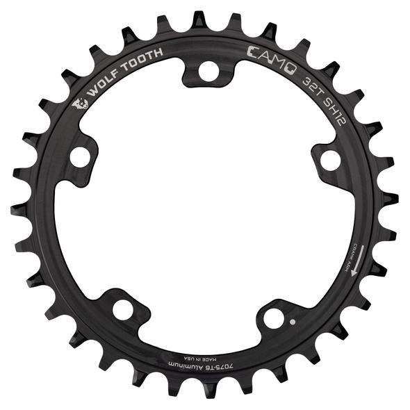 Wolf Tooth Camo Kettenblatt Aluminium für Camo Spider - HyperGlide+ 12-fach - schwarz