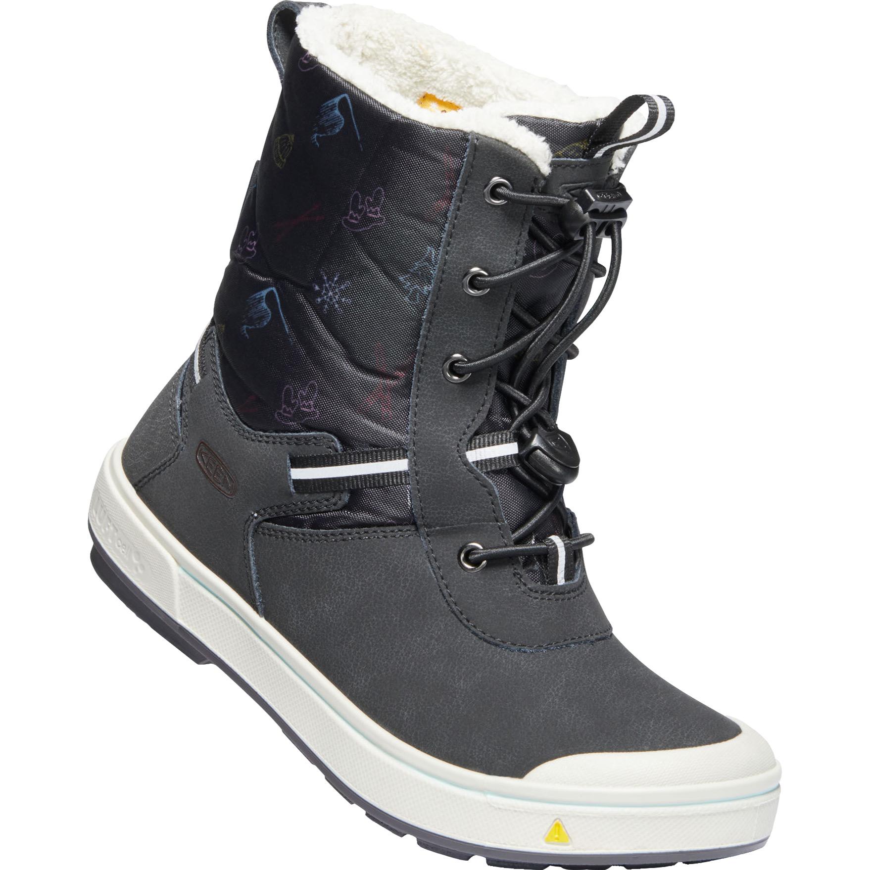KEEN Kelsa Tall Waterproof Youth Winter Boots - Black / Tibetan Red