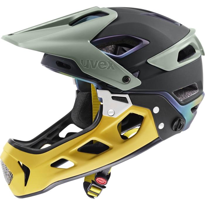 Uvex jakkyl hde 2.0 Helmet - forest - mustard mat