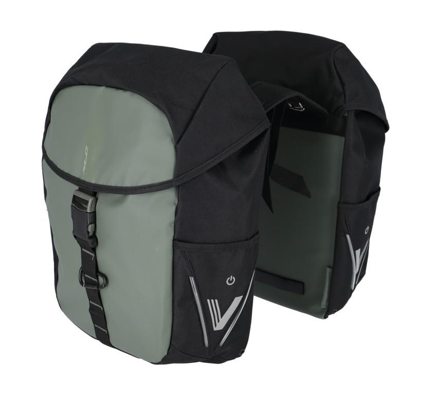 XLC V-Light Active Gepäckträgertasche - Doppelt - dunkelgrün