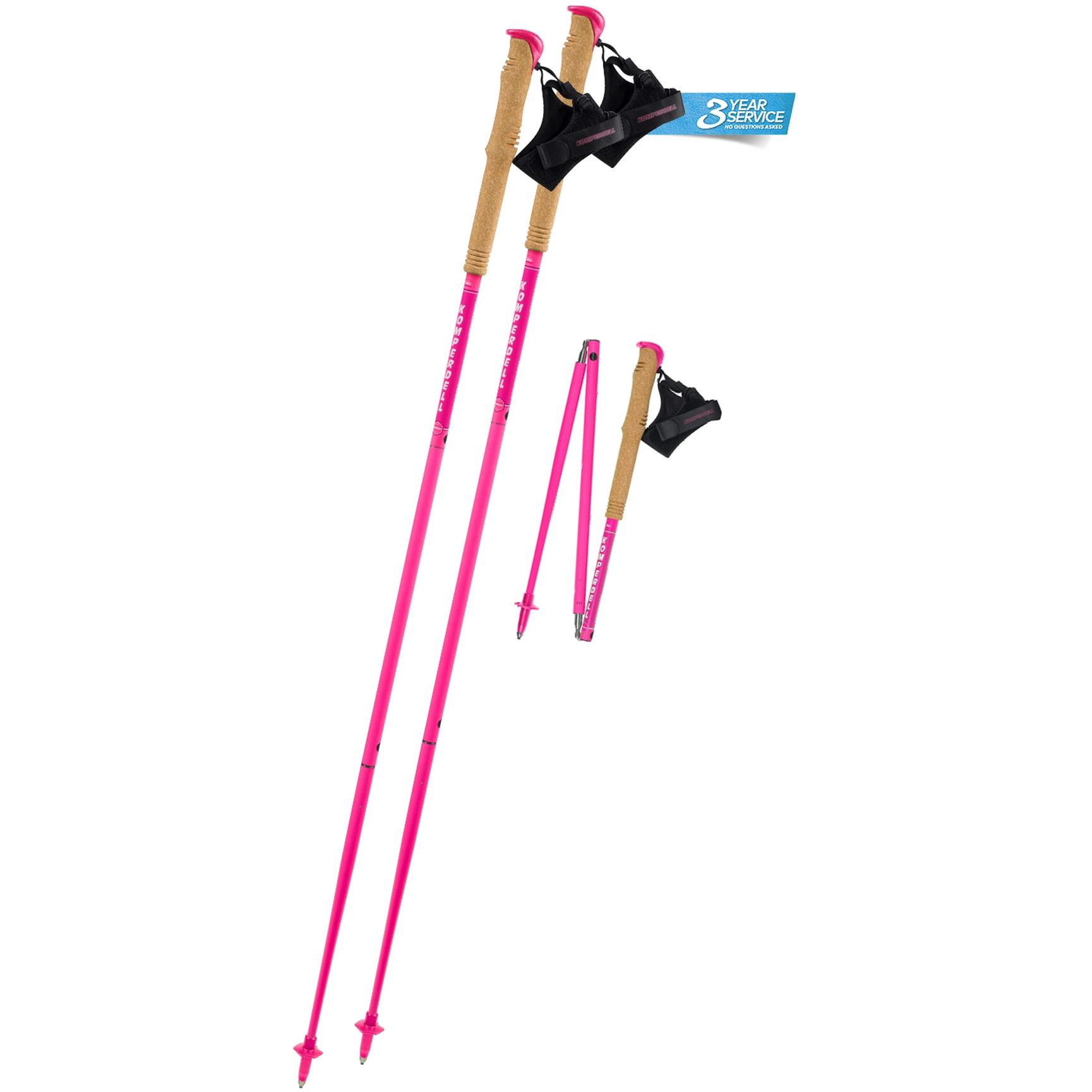 Komperdell Carbon .FXP Team Pink Trekking & Trailrunningstöcke - pink