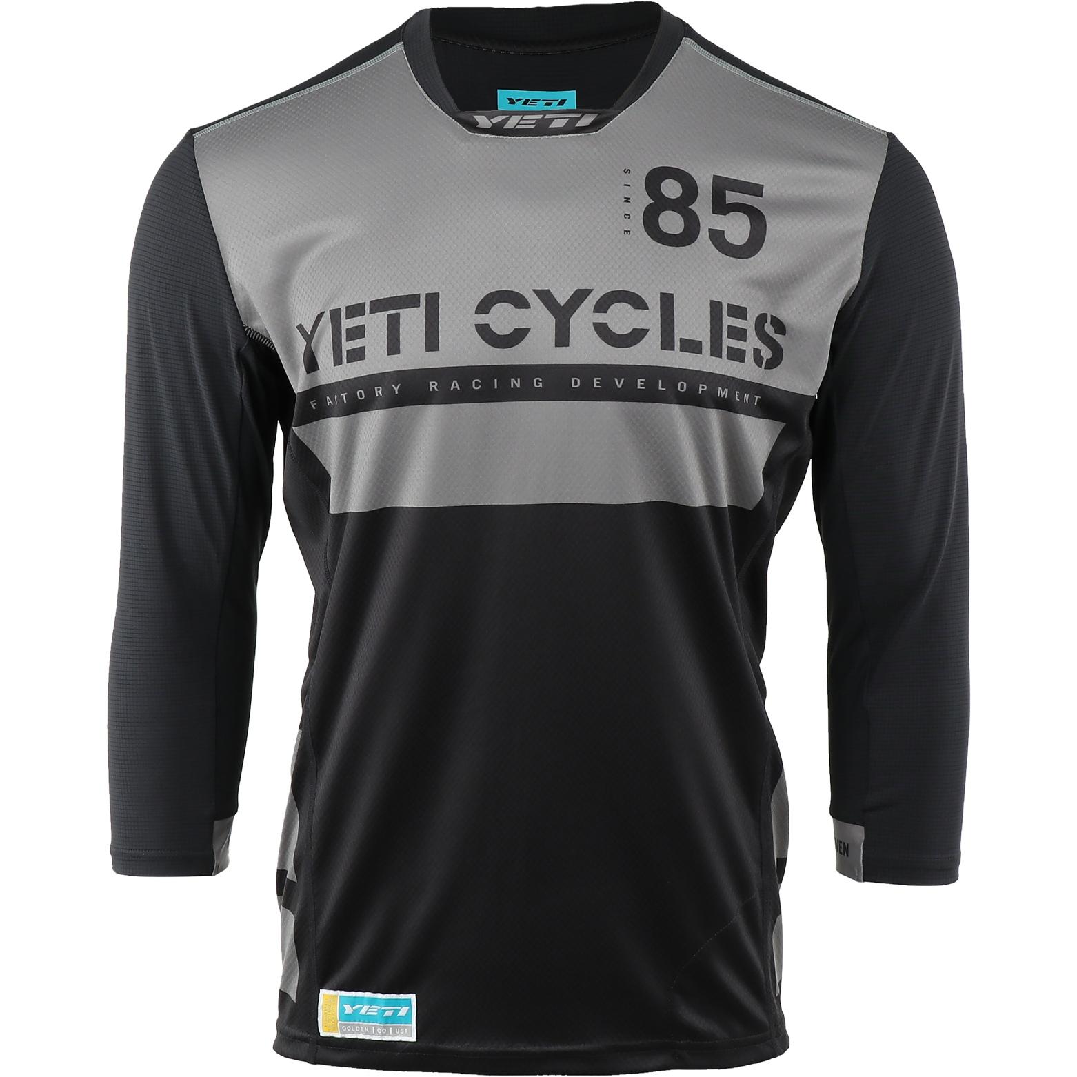 Yeti Cycles Enduro 3/4 Sleeve Jersey - Black